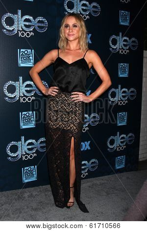 LOS ANGELES - MAR 18:  Becca Tobin at the GLEE 100th Episode Party at Chateau Marmont on March 18, 2014 in West Hollywood, CA