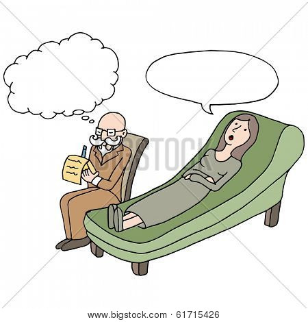 An image of a woman having a therapy session.
