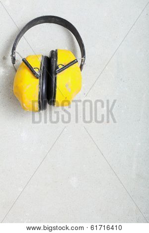Yellow Working Protective Headphones Noise Muffs