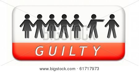 guilty as charged guilt and convicted for a crime in court
