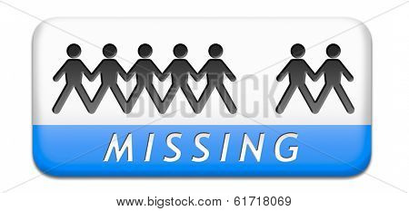 missing or lost person or child search