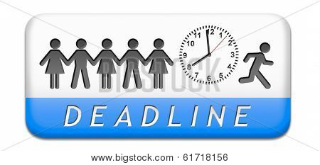 deadline, working time pressure punctual schedule and urgent timing hurry work against clock countdown late appointment countdown for event