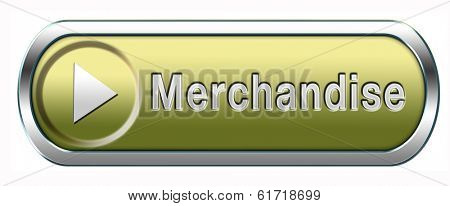 merchandise webshop selling online products in web shop  button or icon