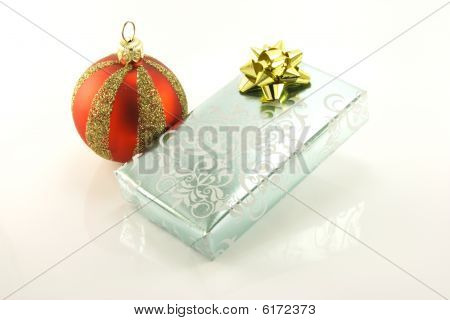 Silver Gift And Bauble