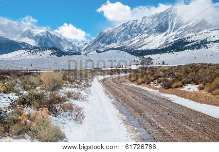 Desert Mountain Road in Winter