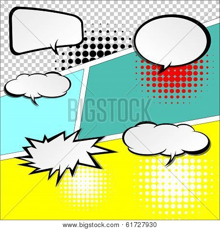 Comic Speech Bubbles.