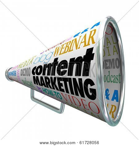 Content Marketing Bullhorn Megaphone Customer Communication
