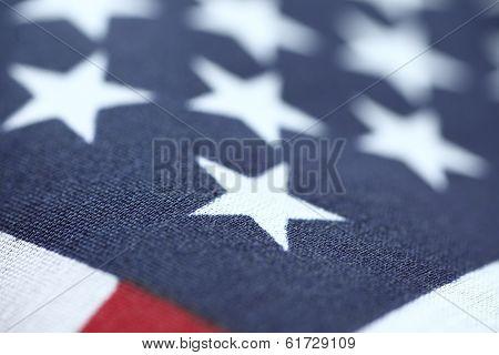 United States flag stars closeup
