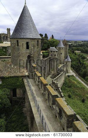 Castle tower, Carcassonne, France
