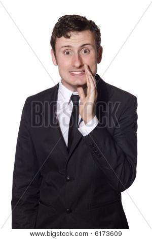 Businessman Whispers Gossip