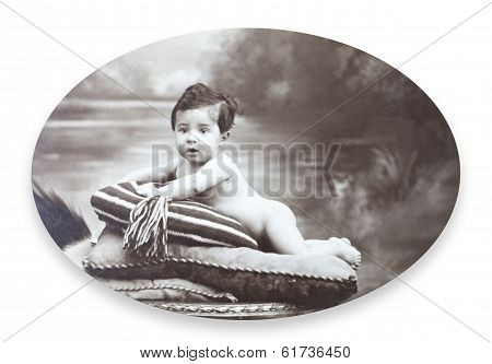 Antique Portrait of a little boy.