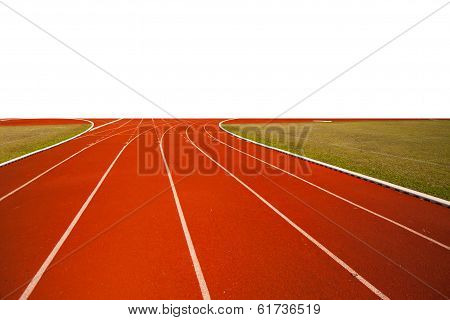 Running track for popular sport, Athlete Track or Running Track with white back ground