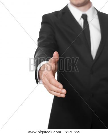 Businessman Ready For Handshake