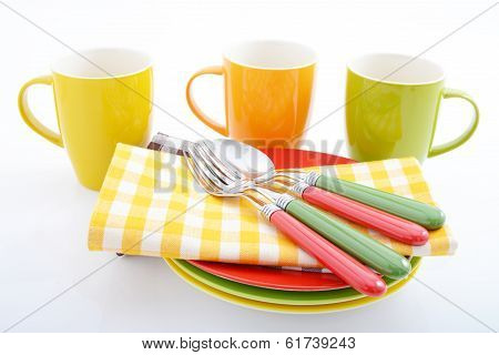 Colorful tablewares