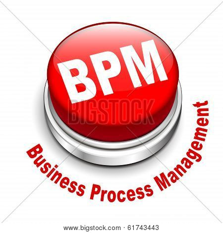 3D Illustration Of Bpm Business Process Management Button
