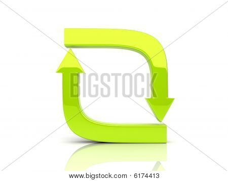 Green Soft Arrows In Cycle