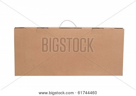 Brown Cardboard Box On White Background