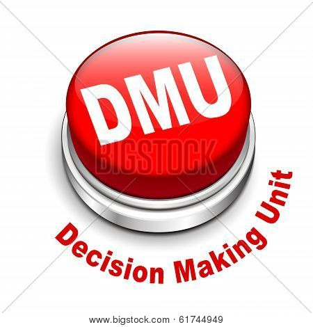 3D Illustration Of Dmu Decision Making Unit Button