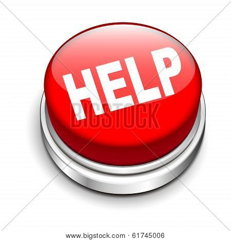 3D Illustration Of Help Button