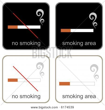 No Smoking & Smoking Area - signs