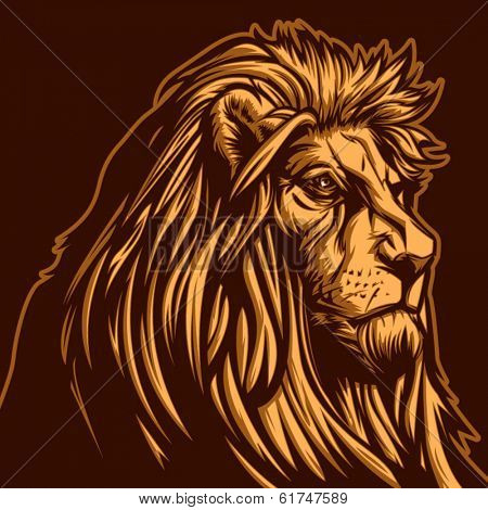 Lion vector graphic for general use. Layered and easy to edit.