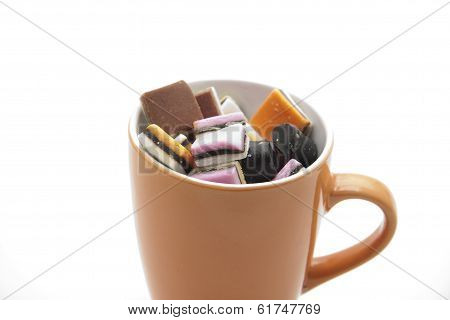Liquorice with porcelain cup