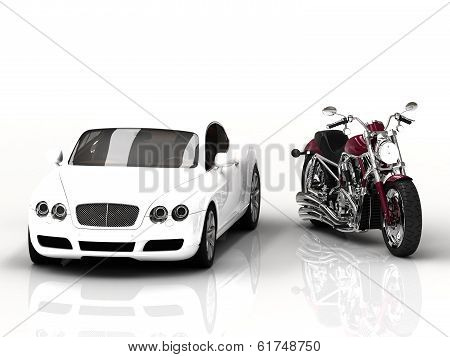 Motor Vehicle And Powerful Motorcycle