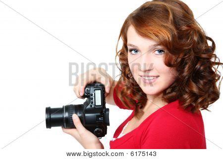 Beautiful Girl With Camera