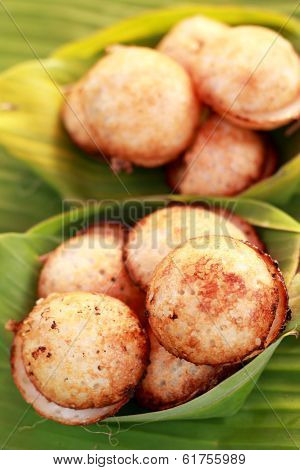 Coconut Milk Mix Sugar And Flour. - Kind Of Thai Sweetmeat