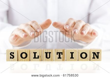 Conceptual Image With The Word Solution