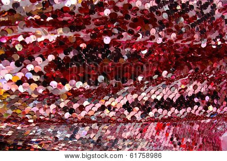 Fabric Scale Glitter Shining Surface Background