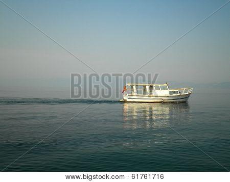 Boat In Macedonia Lake