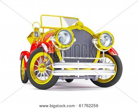 1910 red retro car