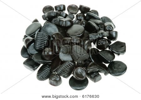 Typical Dutch Liquorice Candy