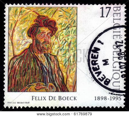 Self Portrait (the Man With The Beard), Painted By Felix De Boeck
