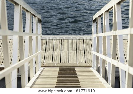 landing stage at the ocean