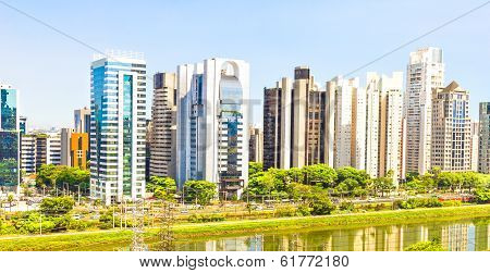 View Of Sao Paulo And The River, Brazil