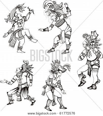 Maya Characters Dancing