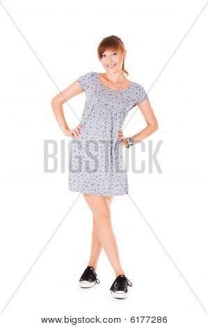 Beautiful Teenager In Gumshoes