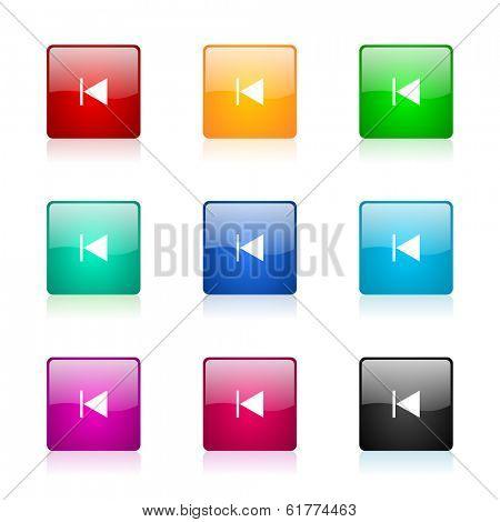 prev web icons set