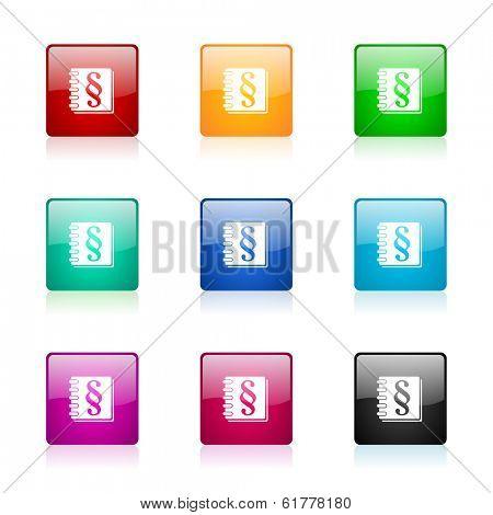 law web icons set