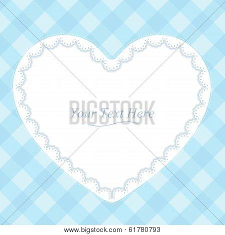 Heart Shaped Blue Frame