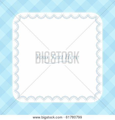 Square Blue Frame