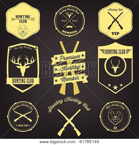 Premium Hunting Vintage Label