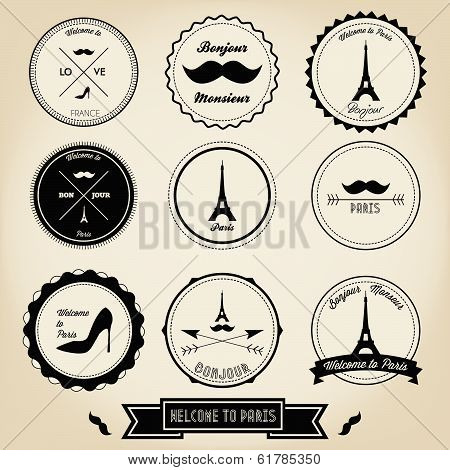 Paris France Label Design