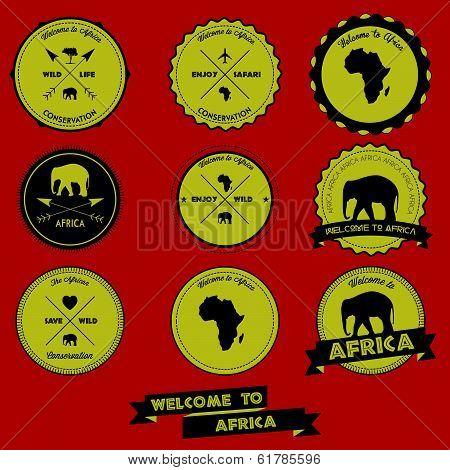 Africa Vintage Label Design