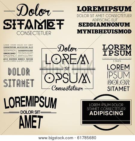 Typography Label Design Vintage Style