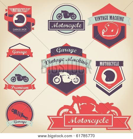 Motorcycle Shop Label Design 2