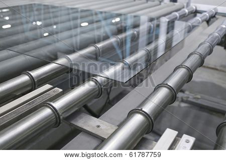 Glass conveyor line