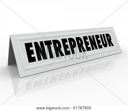 Entrepreneur Word Tent Card Business Owner Speaker Expert